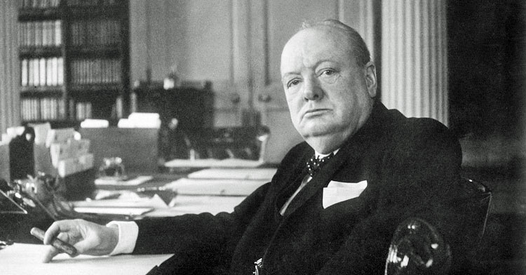 Churchill won the Nobel Prize for his writing.