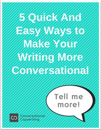 Cover of ebook on conversational copywriting