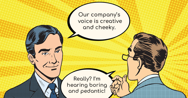 Conversational voice for business