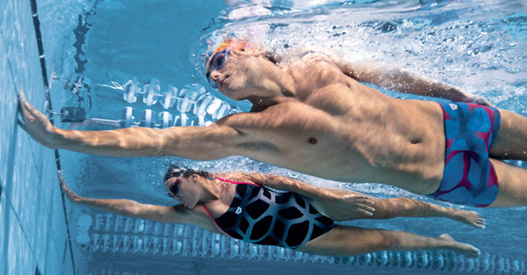 Two swimmers underwater