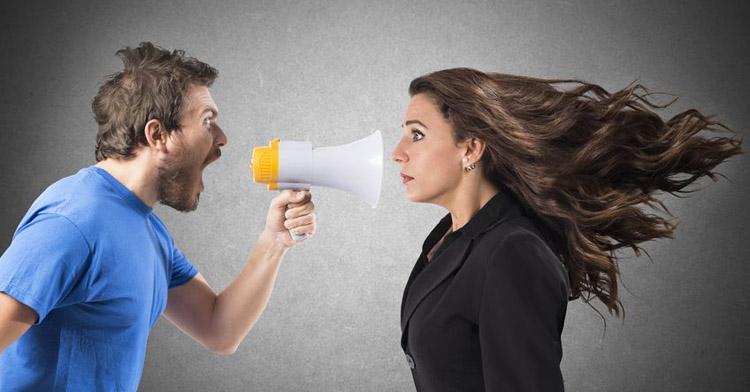 Don't shout when having a conversation